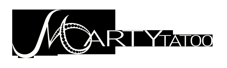 Logo Marty Tatoo blanc